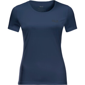 Jack Wolfskin Tech T-shirt Dames, dark indigo